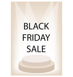 Black friday promotion on brown retro stage vector