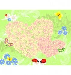 summer valentine vector image