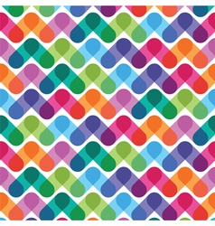 Colorful geometrical abstract seamless pattern vector