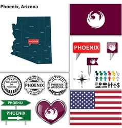 Phoenix arizona set vector
