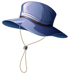 Blue hat with string vector
