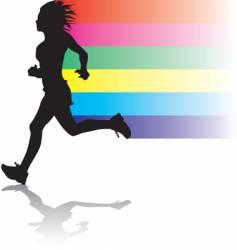 woman jogger vector image
