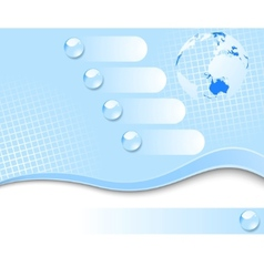 earth planet - 3d banner vector image