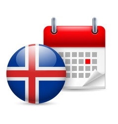 Icon of national day in iceland vector
