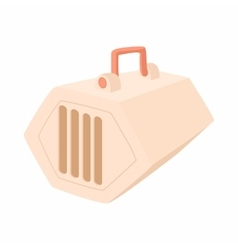 Portable cage for pets icon cartoon style vector