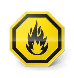 Highly flammable sign vector