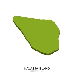Isometric map of navassa island detailed vector