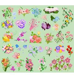 set flowers4 vector image