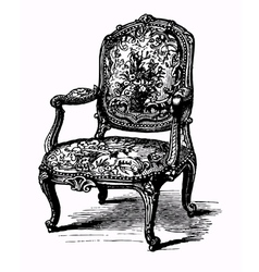 antique armchair vector image