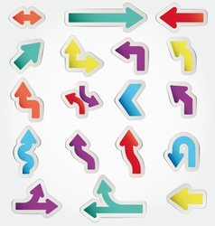 arrows set vector image