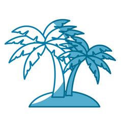 Beach palm tree vector