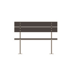 Bench flat icon isolated street wooden design vector