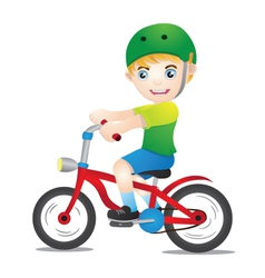 Bicycle Boys Using Helmet vector image