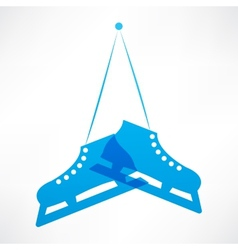 Blue skates vector image