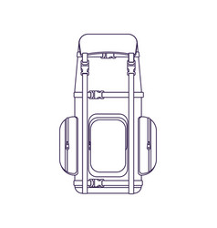 Camping and travel backpack linear icon vector