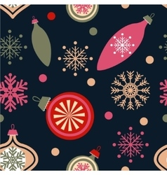 Christmas decorations on blue vector image vector image
