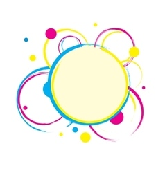 Colorful circles background with blank space vector image
