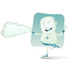 comic superhero - iceman vector image vector image