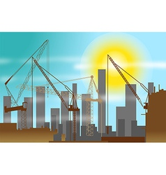 Construction site background vector