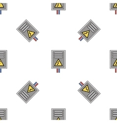 electricity flat icon pattern vector image