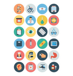Flat medical and health icons 3 vector
