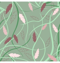 Floral seamless pattern in japanese style vector image