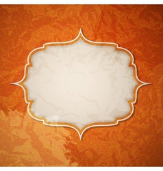 Frame in retro vintage seamless background vector image