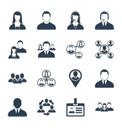 Human resource and management icons set vector