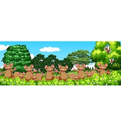 Lot of mouse in the garden vector image