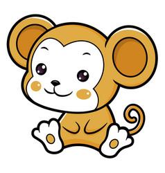 Monkey character sits forward asian zodiac vector