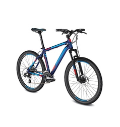 Mountain blue red bike vector