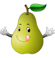 pear with face vector image
