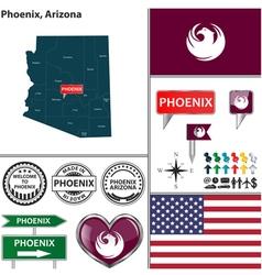 Phoenix Arizona set vector image