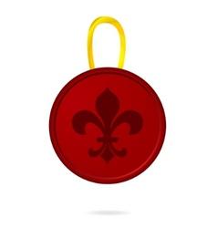 pressed emblem sign red color vector image vector image