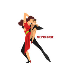 professional dancer couple dancing the paso doble vector image