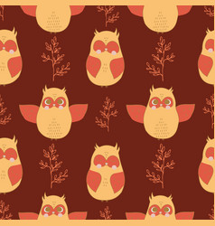 seamless pattern with owl vector image