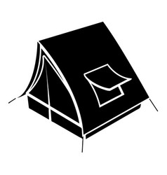 soviet tent icon simple style vector image