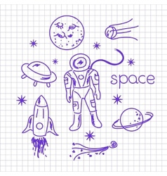 Space objects vector image