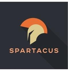 Spartak roman helmet logos icon qualitative vector