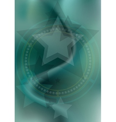 Stars and the hoops on blue green mesh background vector image