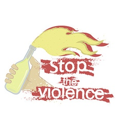Stop the violence logo vector