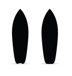 Surfboard set in black color vector