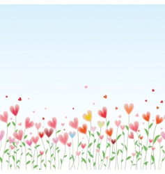 valentines day horizontal seamless background vector image