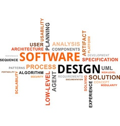 Word cloud software design vector