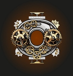 0 letter with gears vector