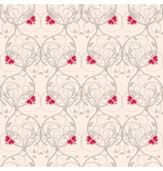 Seamless floral weaving pattern gentle background vector