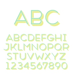 font grotesque 3d inline thin vector image