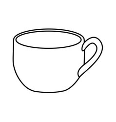 Silhouette cup with handle icon vector