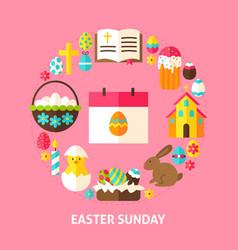 Easter sunday card vector