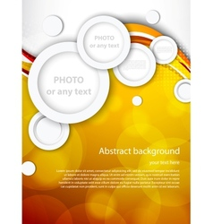 Abstract brochure with circles vector